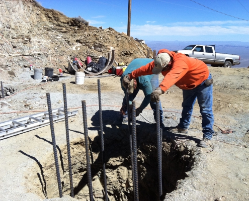 Installing Rock Anchors on the North Leg