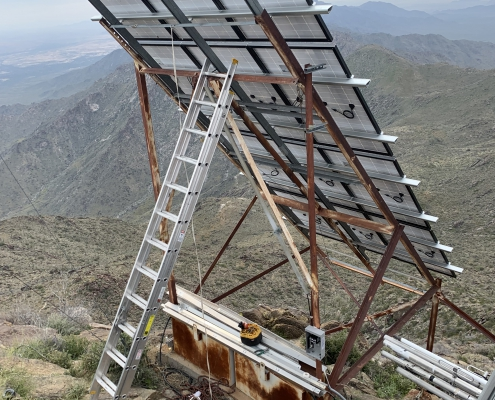 Eastern array is complete with 12, 320-WATT Solar Panels