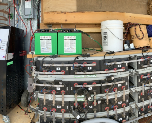 48VDC Battery Bank located next to the communications building on Estrella