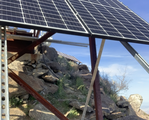 Eastern most Solar Superstructure for Estrella 2020 Solar Superstructure Reinforcement project