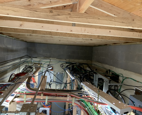 New, higher ceiling to accommodate more airflow.